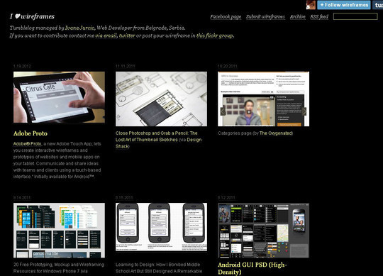 13 Sites For Free Wireframing Tools And Examples 6