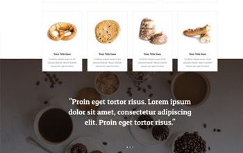 Bakery Landing Page free divi layout pack