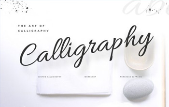 Calligrapher Landing Page free layout pack