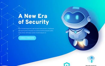 Cyber Security Landing Page free layout pack