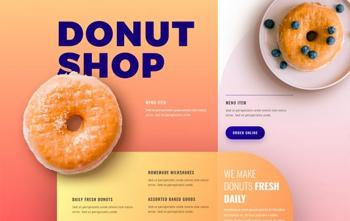 donut shop divi free layout