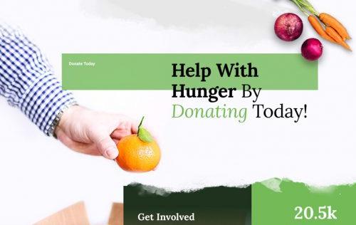 Food Bank Landing Page divi free layout pack