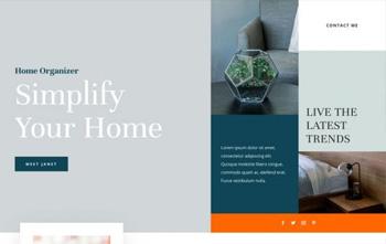 Home Organizer Landing Page divi free layout packs
