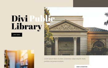 Library Landing Page divi free layout pack
