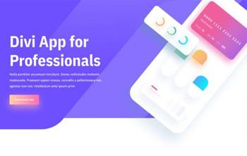 Mobile App Landing Page divi layout pack