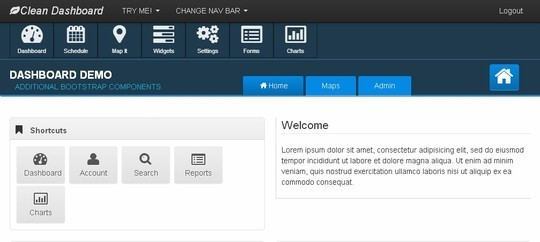 8 Free Bootstrap Admin Templates 8