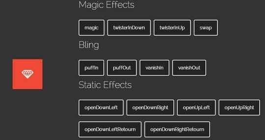 12 CSS Effects Libraries For Developers 8