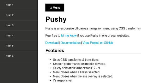 A Collection Of Useful jQuery CSS3 Navigation Menu Tutorials 8