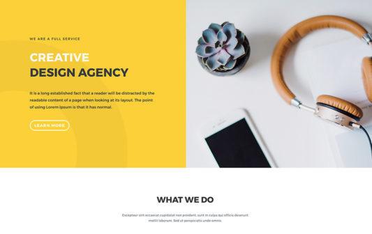 design agency divi free layout