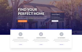 real estate divi free layout
