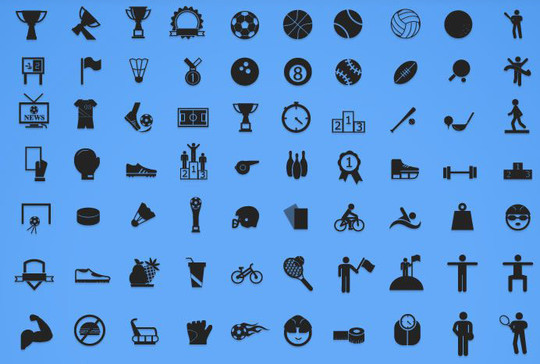 38 Superb Yet Free Sports & Games Icon Sets 2