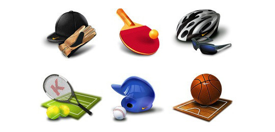 38 Superb Yet Free Sports & Games Icon Sets 6