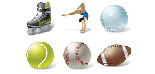 38 Superb Yet Free Sports & Games Icon Sets 30