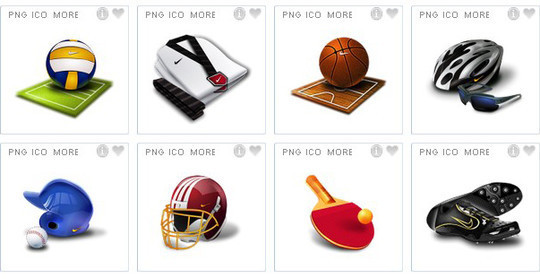38 Superb Yet Free Sports & Games Icon Sets 11