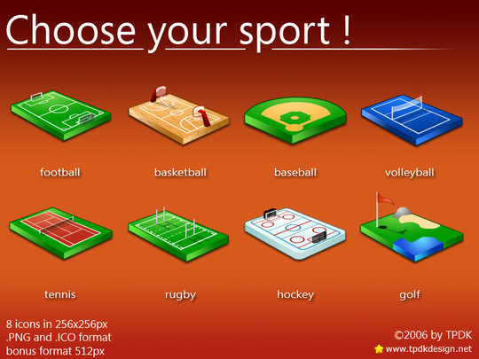 38 Superb Yet Free Sports & Games Icon Sets 32