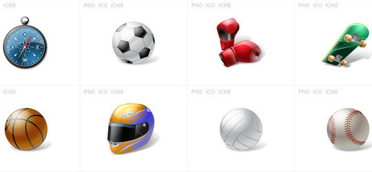 38 Superb Yet Free Sports & Games Icon Sets 8
