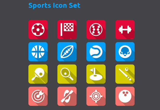 38 Superb Yet Free Sports & Games Icon Sets 3