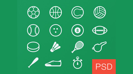 38 Superb Yet Free Sports & Games Icon Sets 5
