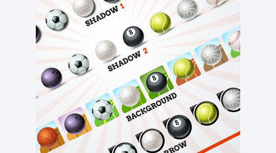 38 Superb Yet Free Sports & Games Icon Sets 10
