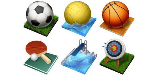 38 Superb Yet Free Sports & Games Icon Sets 4