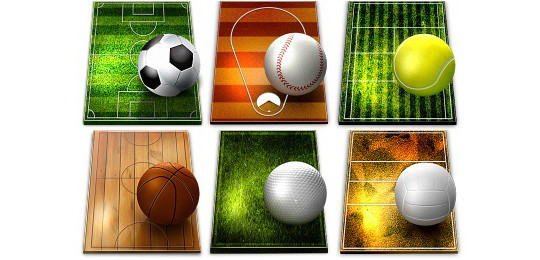 38 Superb Yet Free Sports & Games Icon Sets 15