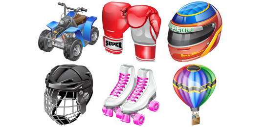 38 Superb Yet Free Sports & Games Icon Sets 16