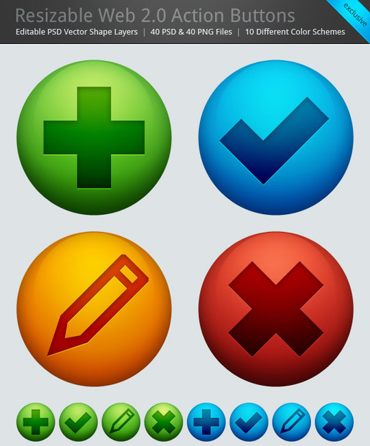 40 Free Web Design Buttons For Web Designers 26