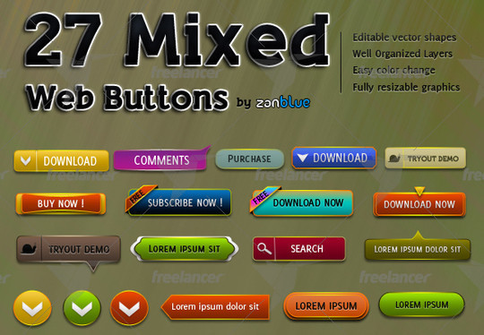 40 Free Web Design Buttons For Web Designers 13