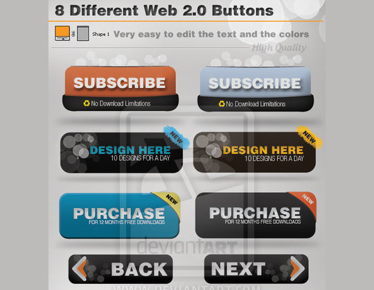 40 Free Web Design Buttons For Web Designers 30