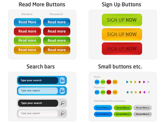 40 Free Web Design Buttons For Web Designers 36