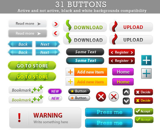 40 Free Web Design Buttons For Web Designers 17