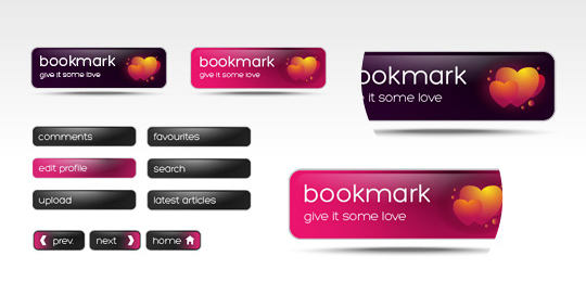 40 Free Web Design Buttons For Web Designers 11