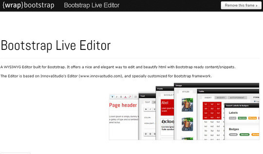 11 Bootstrap UI Editors For Developers 9