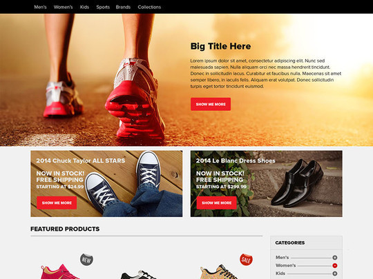 13 Free Ecommerce Templates In Photoshop Format 4