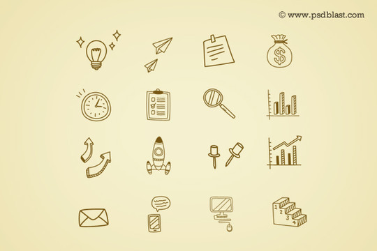 38 Beautiful Icons In PSD For Web Designers 26