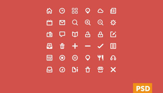38 Beautiful Icons In PSD For Web Designers 32