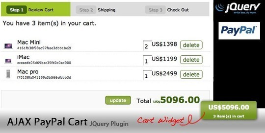 9 Free jQuery JavaScript Shopping Carts 6