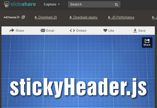 Awesome jQuery Plugins & Tutorials For Sticky Layer Or Table Header 6