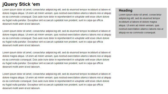 Awesome jQuery Plugins & Tutorials For Sticky Layer Or Table Header 7