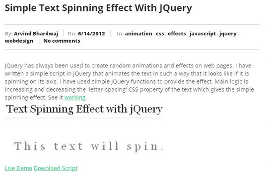 35 jQuery Text Effect Libraries For Your Next Project 14