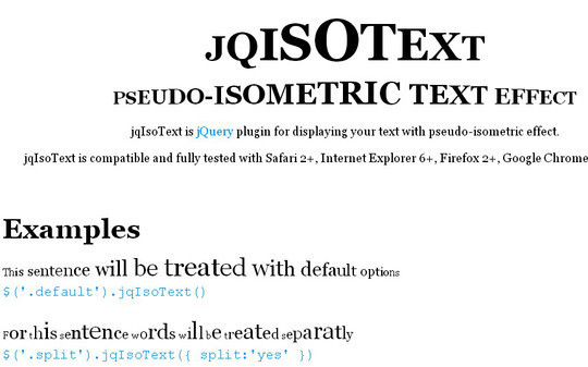 35 jQuery Text Effect Libraries For Your Next Project 9