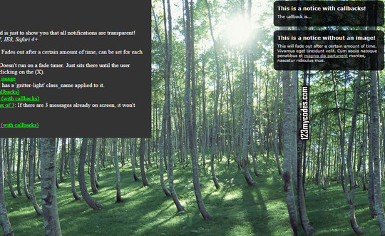 8 jQuery Notification Plugins For Good User Experience 211