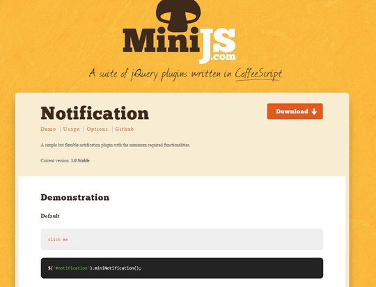 8 jQuery Notification Plugins For Good User Experience 8