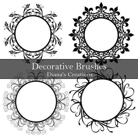 40 High Quality Decorative Corner Brushes For Free Download 9