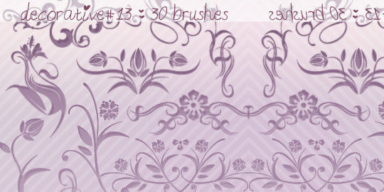 40 High Quality Decorative Corner Brushes For Free Download 11