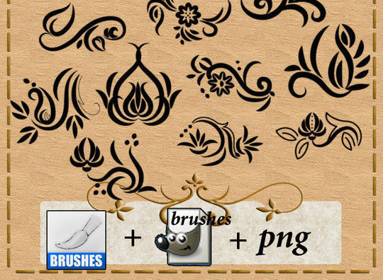 40 High Quality Decorative Corner Brushes For Free Download 14