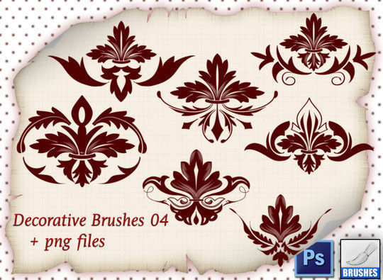 40 High Quality Decorative Corner Brushes For Free Download 18