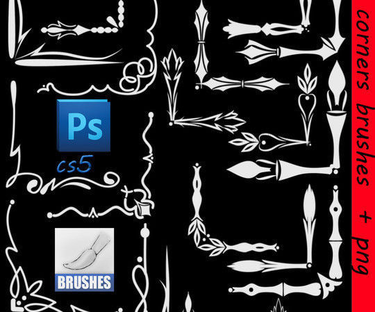40 High Quality Decorative Corner Brushes For Free Download 22