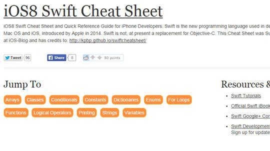 12 Tutorials For Getting Started With Swift; Apple's New Programming Language 9
