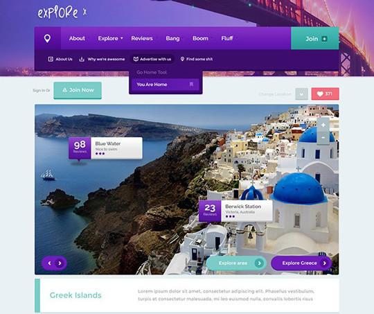 35 Latest & Most Amazing Photoshop Website Templates 18